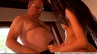 Jerking off luxurious youngster and grand-dad Infestlicker